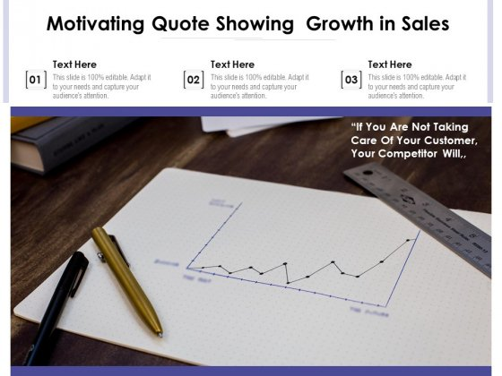 Motivating Quote Showing Growth In Sales Ppt PowerPoint Presentation Gallery Guide PDF