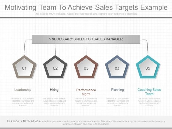 Motivating Team To Achieve Sales Targets Example
