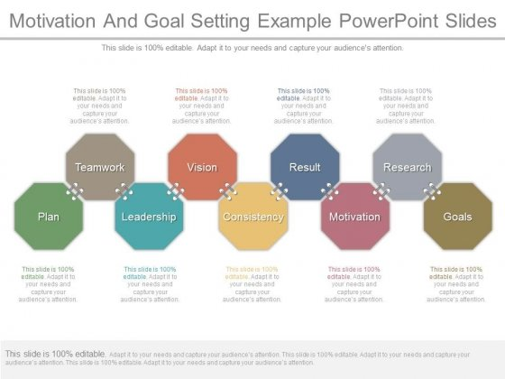 Motivation And Goal Setting Example Powerpoint Slides