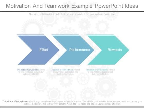 Motivation And Teamwork Example Powerpoint Ideas