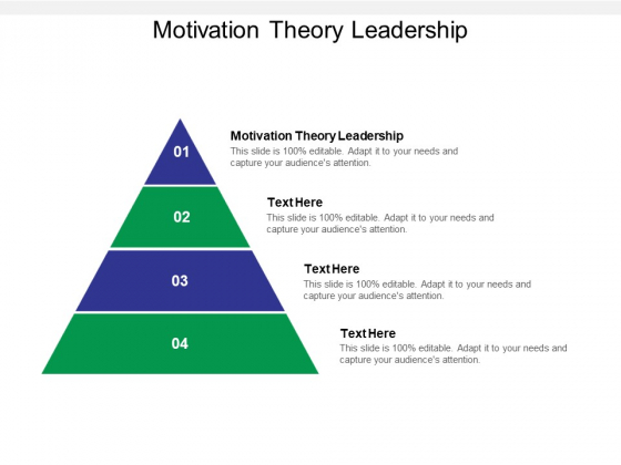 Motivation Theory Leadership Ppt PowerPoint Presentation Model Vector Cpb