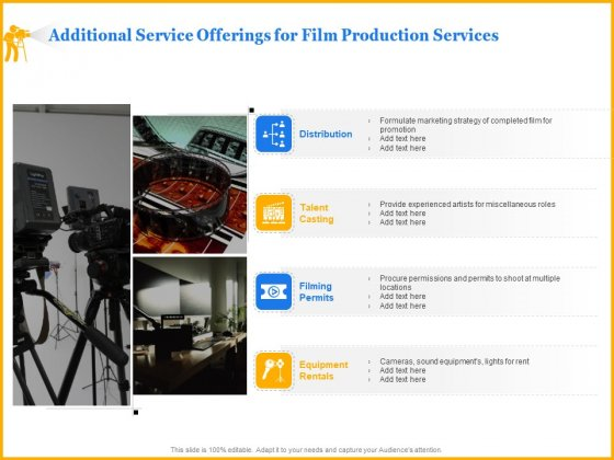 Movie Production Proposal Template Additional Service Offerings For Film Production Services Guidelines PDF