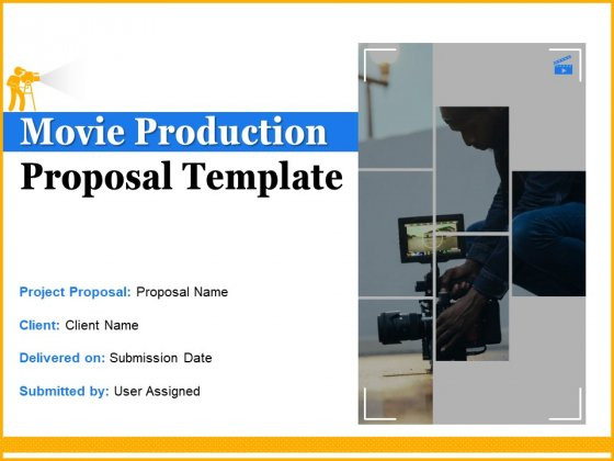 Movie Production Proposal Template Ppt PowerPoint Presentation Complete Deck With Slides