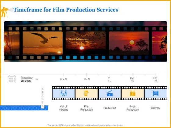 Movie Production Proposal Template Timeframe For Film Production Services Information PDF