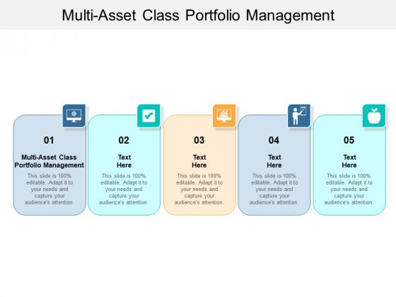 Multi Asset Class Portfolio Management Ppt PowerPoint Presentation Gallery Brochure Cpb Pdf