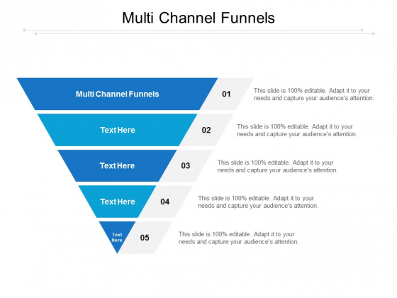 Multi Channel Funnels Ppt PowerPoint Presentation Inspiration Templates Cpb