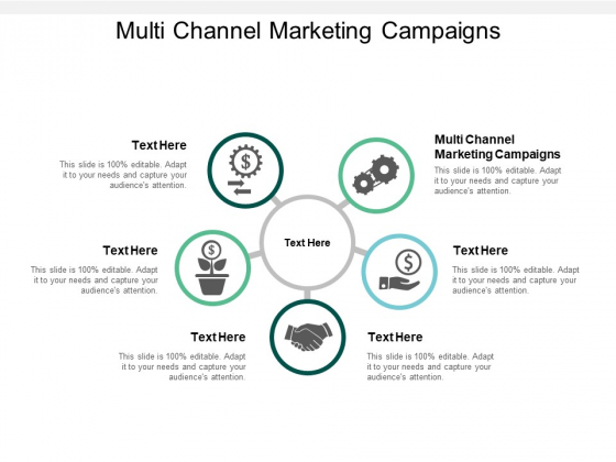 Multi Channel Marketing Campaigns Ppt PowerPoint Presentation Model Influencers Cpb
