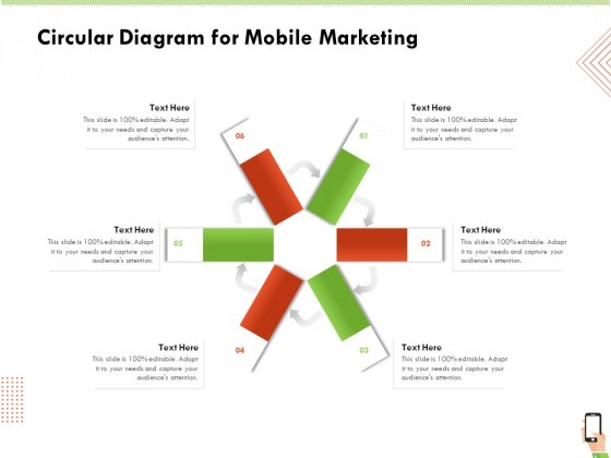 Multi Channel Online Commerce Circular Diagram For Mobile Marketing Professional PDF