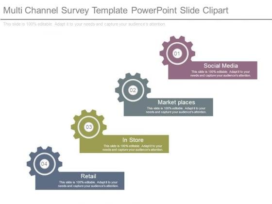 Multi Channel Survey Template Powerpoint Slide Clipart