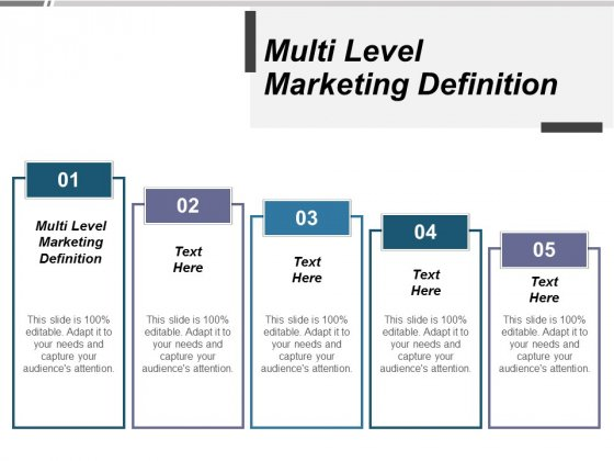 Multi Level Marketing Definition Ppt PowerPoint Presentation Summary Background Designs