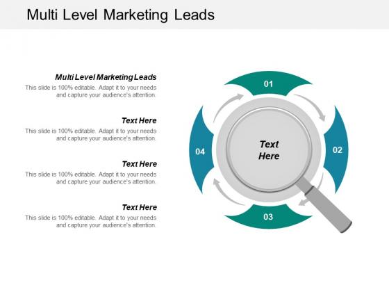 Multi Level Marketing Leads Ppt PowerPoint Presentation File Brochure Cpb