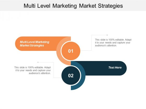 Multi Level Marketing Market Strategies Ppt PowerPoint Presentationmodel Brochure Cpb