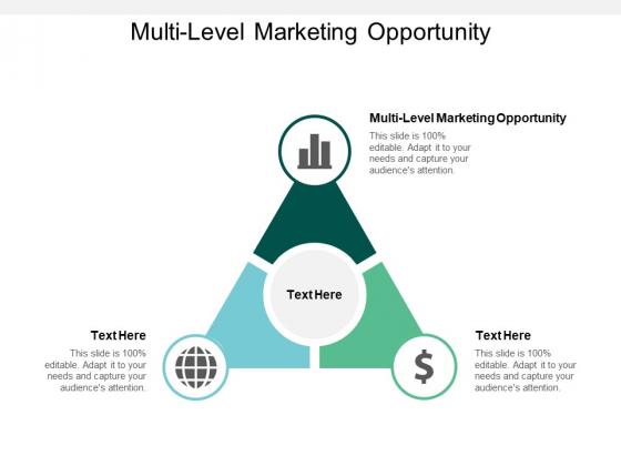 Multi Level Marketing Opportunity Ppt PowerPoint Presentation Ideas Mockup Cpb