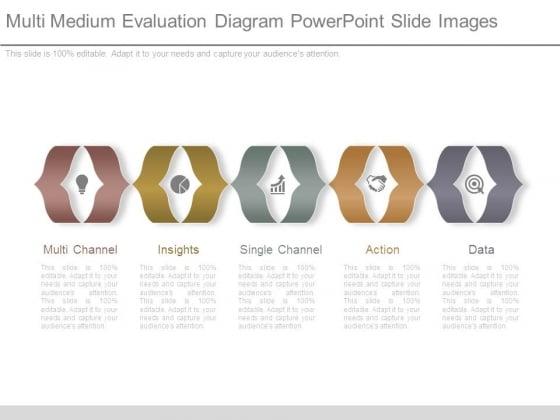 Multi Medium Evaluation Diagram Powerpoint Slide Images