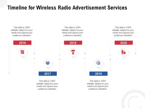 Multi Radio Waves Timeline For Wireless Radio Advertisement Services Pictures PDF