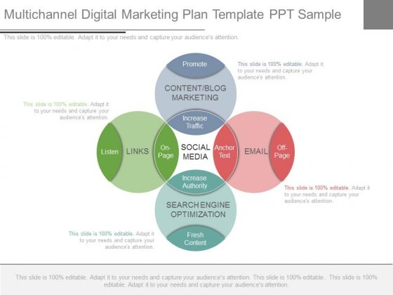 Multichannel Digital Marketing Plan Template Ppt Sample