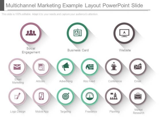 Multichannel Marketing Example Layout Powerpoint Slide