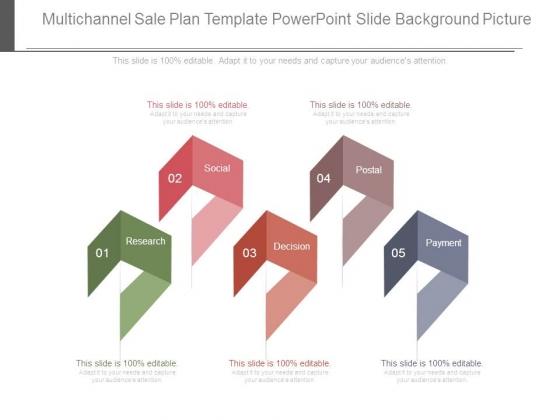 Multichannel Sale Plan Template Powerpoint Slide Background Picture
