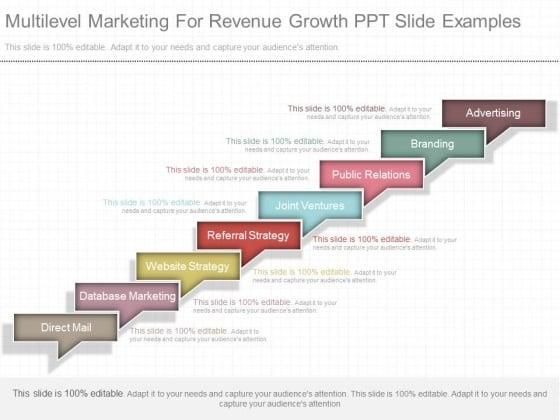 Multilevel Marketing For Revenue Growth Ppt Slide Examples