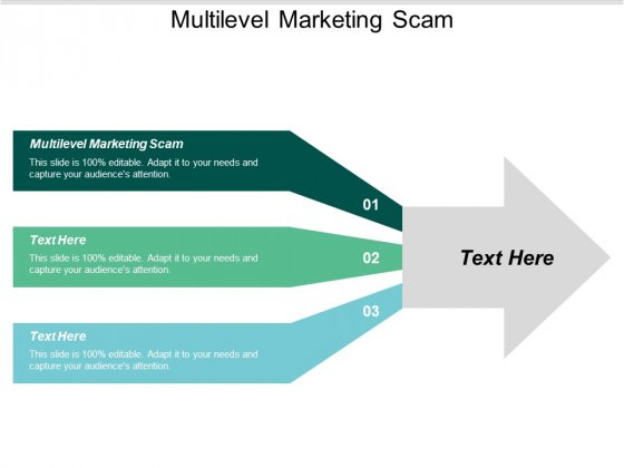 Multilevel Marketing Scam Ppt Powerpoint Presentation Icon