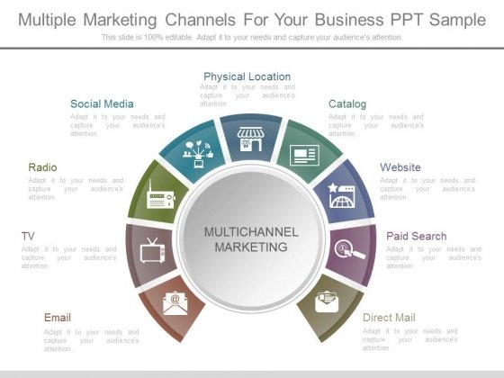 Multiple Marketing Channels For Your Business Ppt Sample