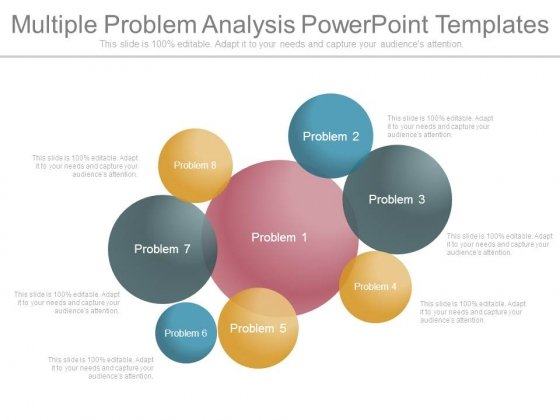 Multiple Problem Analysis Powerpoint Templates