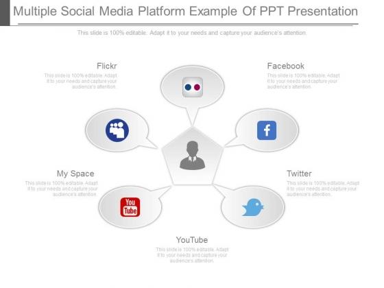 Multiple Social Media Platform Example Of Ppt Presentation