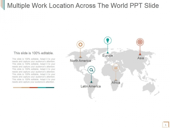Multiple Work Location Across The World Ppt PowerPoint Presentation Sample