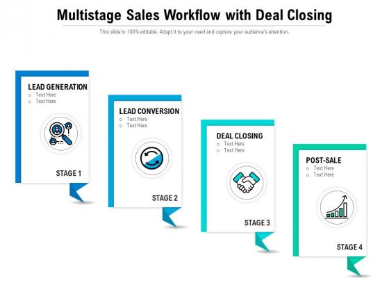 Multistage Sales Workflow With Deal Closing Ppt PowerPoint Presentation Portfolio Slides PDF