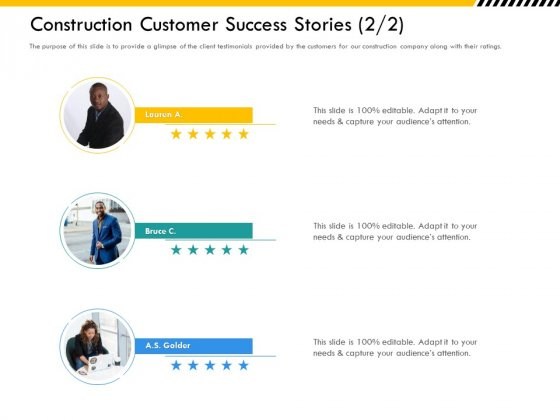 Multitier_Project_Execution_Strategies_Construction_Customer_Success_Stories_Demonstration_PDF_Slide_1