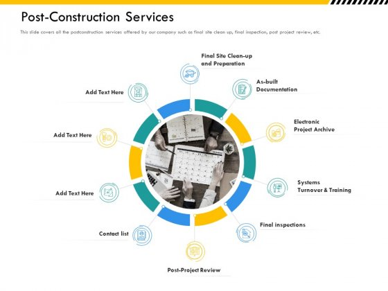 Multitier Project Execution Strategies Post Construction Services Ppt Icon Information PDF