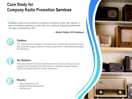 Music Promotion Consultation Case Study For Company Radio Promotion Services Structure PDF