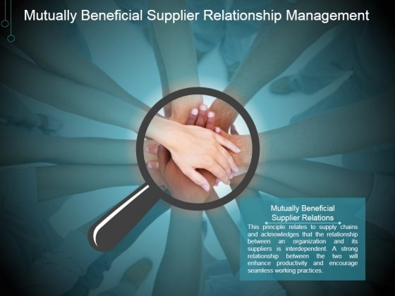 Mutually Beneficial Supplier Relationship Management Ppt PowerPoint Presentation Shapes
