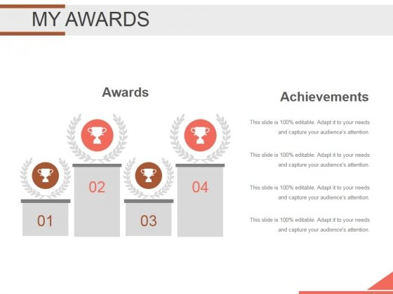 My Awards Ppt PowerPoint Presentation Professional