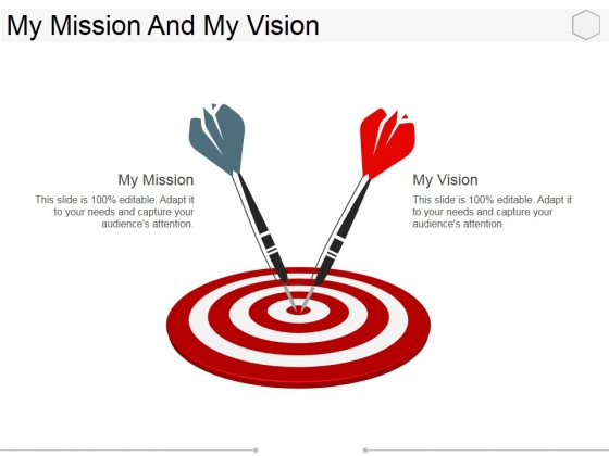 My Mission And My Vision Ppt PowerPoint Presentation File Elements