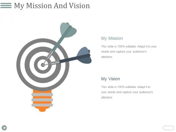 My Mission And Vision Ppt PowerPoint Presentation Infographics Pictures