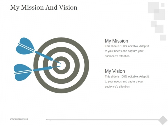 My Mission And Vision Ppt PowerPoint Presentation Styles