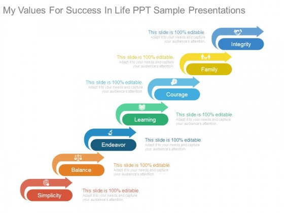 My Values For Success In Life Ppt Sample Presentations