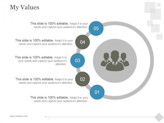 My Values Ppt PowerPoint Presentation Slide Download