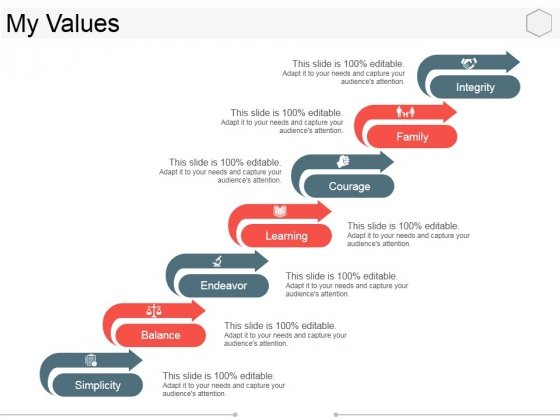 My Values Template 2 Ppt PowerPoint Presentation Slides Objects
