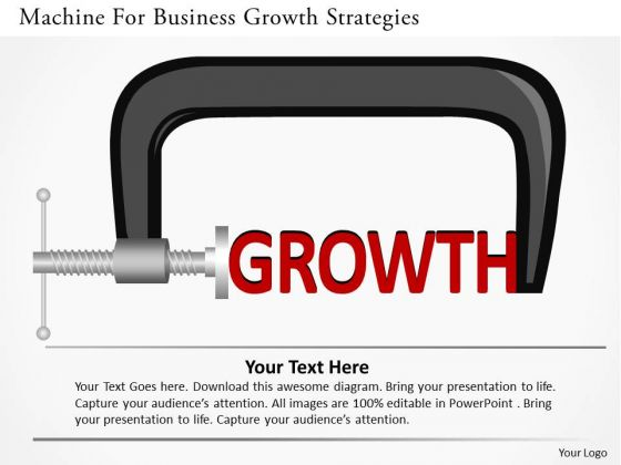Machine For Business Growth Strategies PowerPoint Template