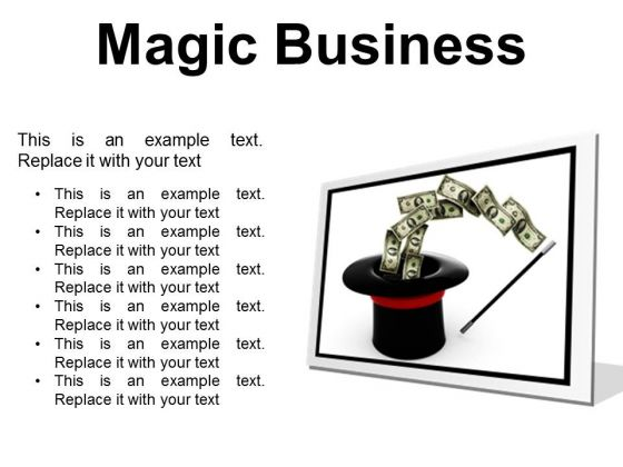 Magic Business Finance PowerPoint Presentation Slides F