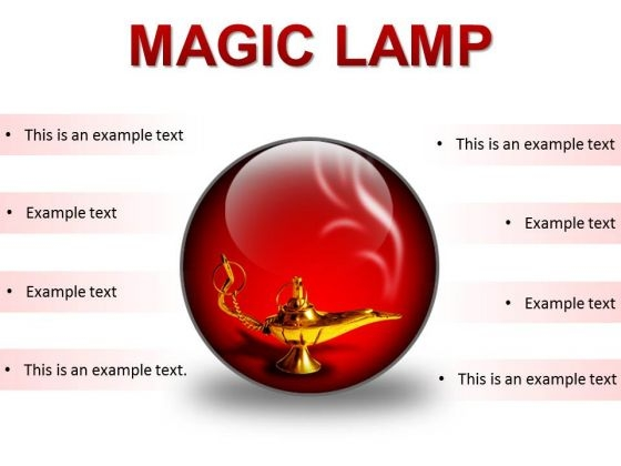 Magic Lamp01 Metaphor PowerPoint Presentation Slides C