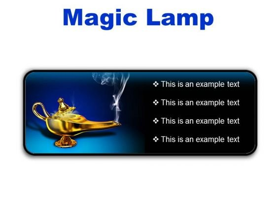 Magic Lamp Metaphor PowerPoint Presentation Slides R