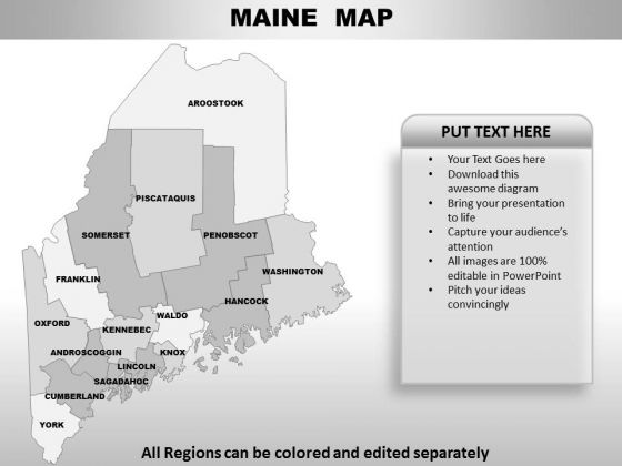 Maine PowerPoint Maps
