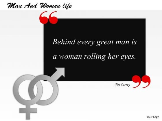 Man And Women Life PowerPoint Presentation Template
