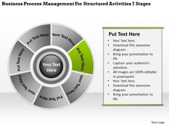 Management For Structured Activities 7 Stages Business Plan Download PowerPoint Slides