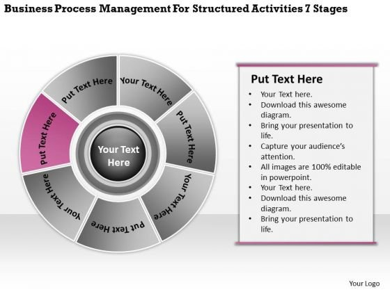 Management For Structured Activities 7 Stages Ppt 6 Business Plan Form PowerPoint Templates
