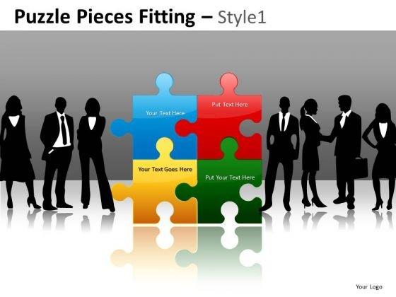 Management Team Puzzle PowerPoint Slides Leader Ppt Templates