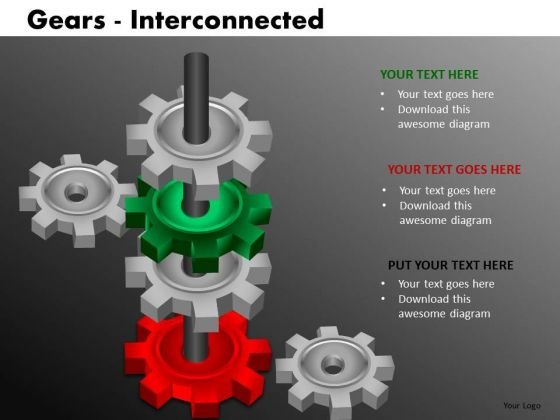 Manufacturing Gears PowerPoint Templates